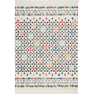 Find for Penwell White Area Rug ByBungalow Rose