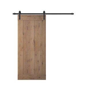 Wood Paneled Barn Door