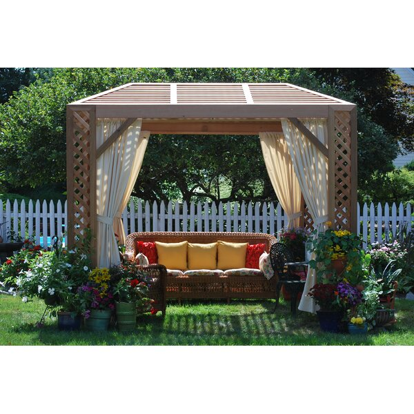 Superior Grown For You 10 Ft. W X 8 Ft. D Solid Wood Patio Gazebo   Wayfair