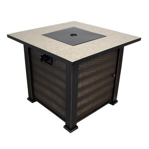 New Haven Porcelain Steel Propane Fire Pit Table