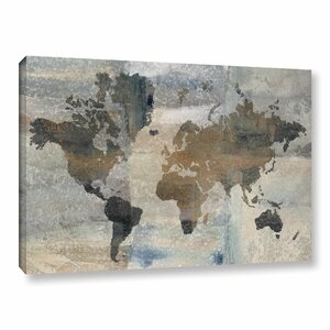 'Stone World'  Painting Print on Wrapped Canvas