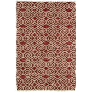 Saint-Joseph Beige/Red Area Rug