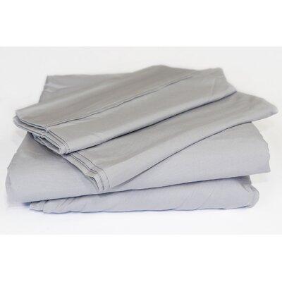 Beacon Linens Safe Haven 4 Piece Sheet Set  Size: Full, Color: Silver