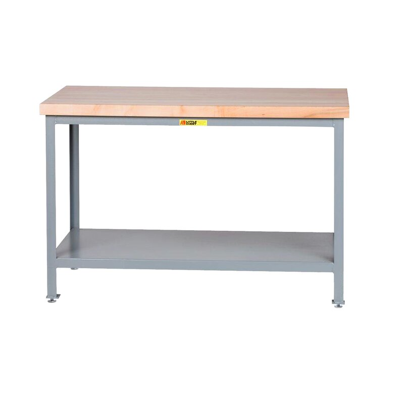 Butcher Block Workbench >> Adjustable Height Butcher Block Top Workbench