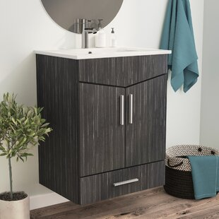 "Kapp European Wall Mount 23.75"" Single Bathroom Vanity Set"