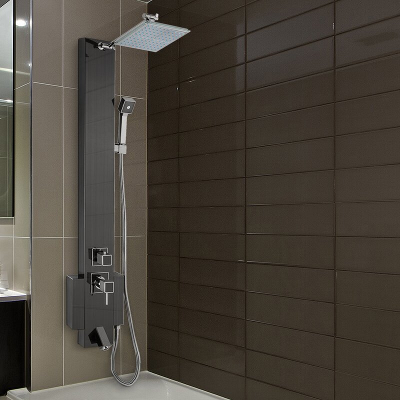AKDY Rain Shower Head Shower Panel & Reviews | Wayfair