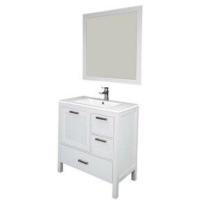 Andre 36 Single Bathroom Vanity Set with Mirror