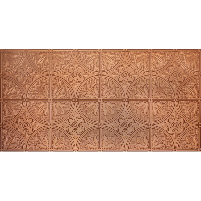 Global Specialty Products Glue Up Traditional 2 X 4 Tin Ceiling Tile In Copper Reviews Wayfair