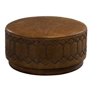 Youngston Leather Ottoman by Leathercraft