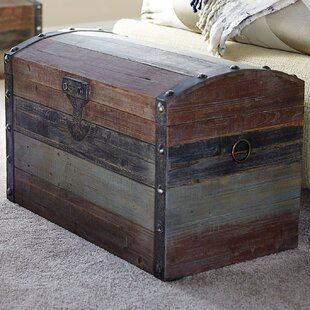 Charmant Grieco Small Weathered Wooden Storage Trunk