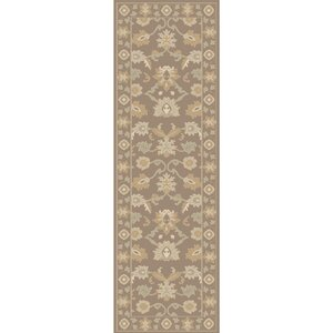 Keefer Hand-Tufted Taupe Area Rug