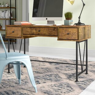 reputable site d14f0 8e88a Wood Pipe Desk | Wayfair