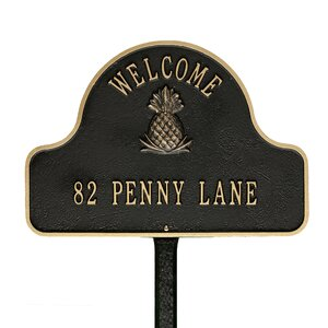 2-Line Lawn Address Sign