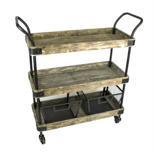Minnis Industrial 3 Tiered Bar Cart