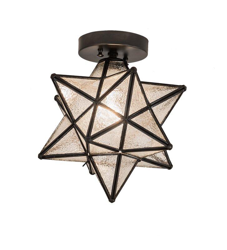 Moravian Star 1-Light Flush Mount & Reviews