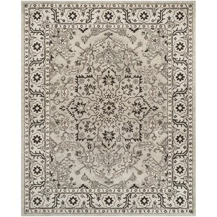 Evans Hand Tufted Gray Beige Area Rug