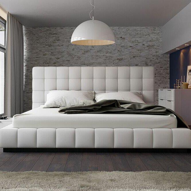 Thompson Upholstered Platform Bed & Reviews