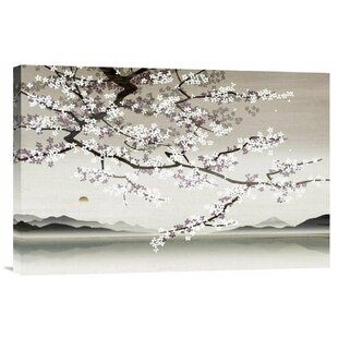 U0027Flower Blossom In Asian Landscapeu0027 By Nick Purser Painting Print On  Wrapped Canvas
