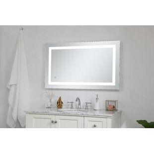 52a14483994d Tulloch Hardwired LED Lighted Bathroom Mirror. by Ebern Designs