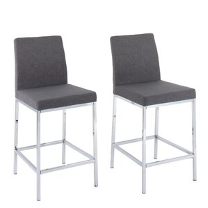 Onya Leatherette Bar Stool (Set of 2) by Orren Ellis