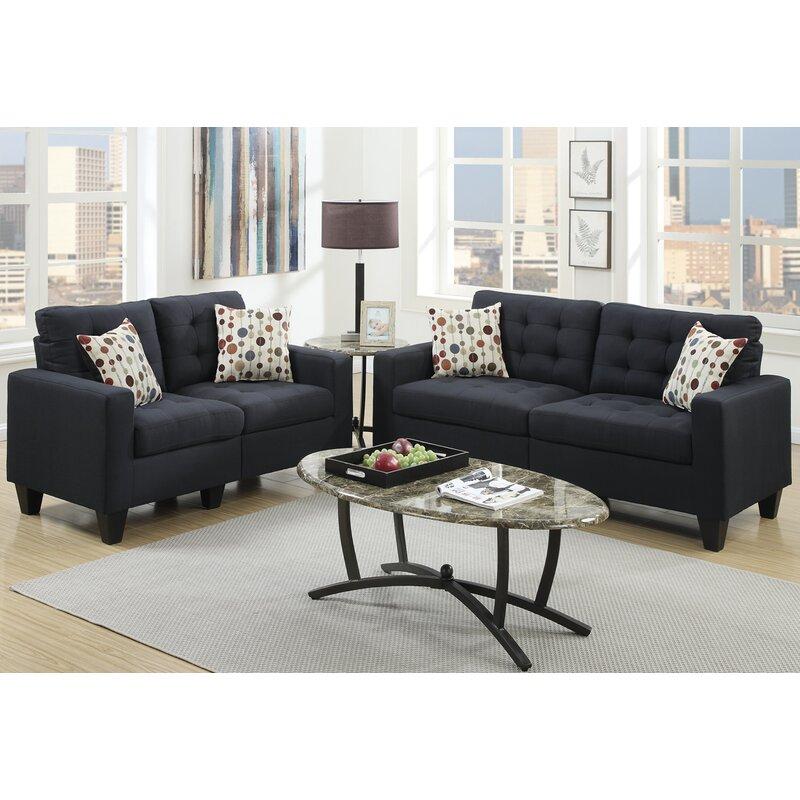 Amia 2 Piece Living Room Set Zipcode