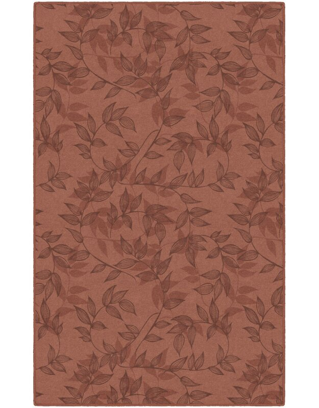 Winston Porter Roxana Floral Red Area Rug, Size: Rectangle 76 x 10