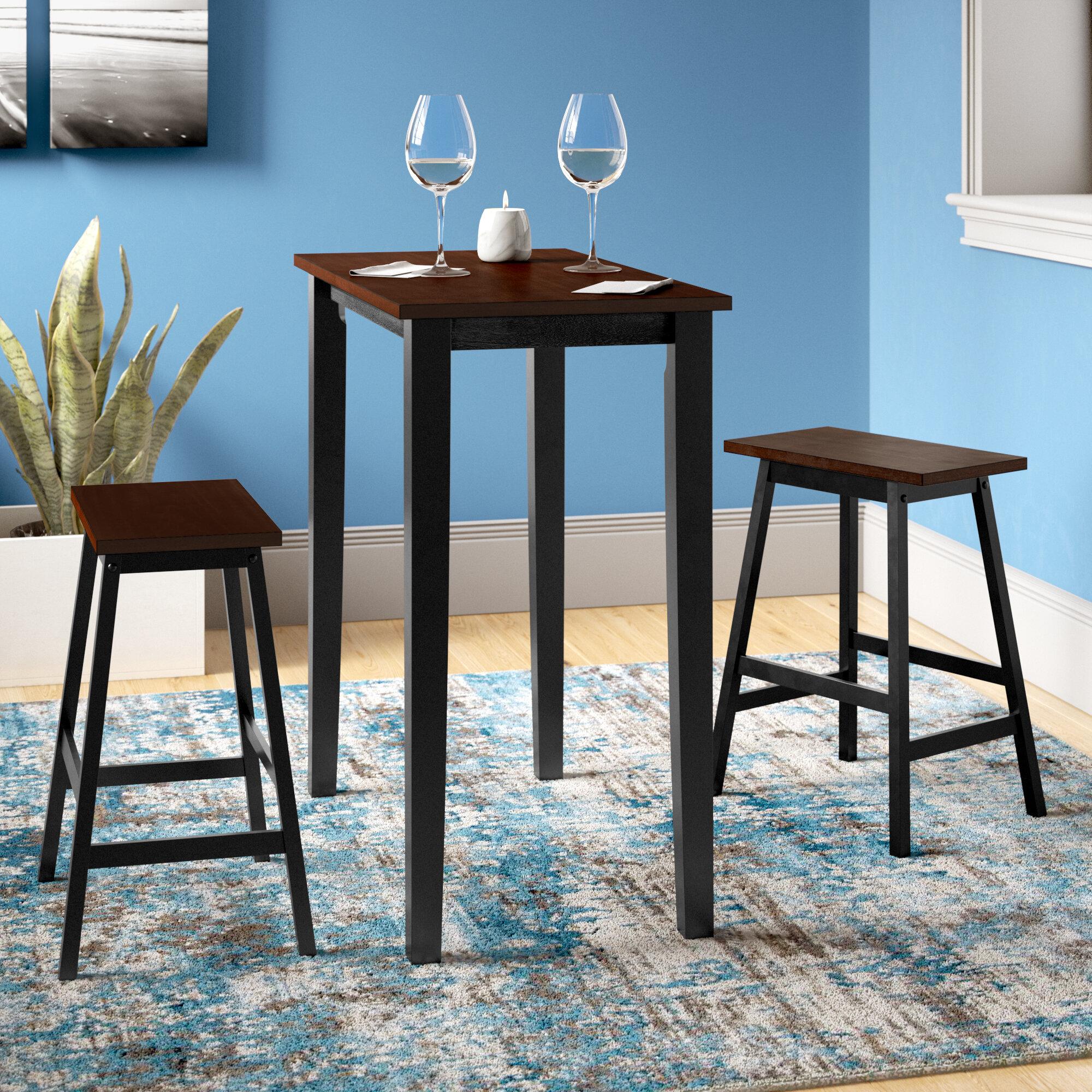 Zipcode Design Everett 3 Piece Dining Set & Reviews | Wayfair