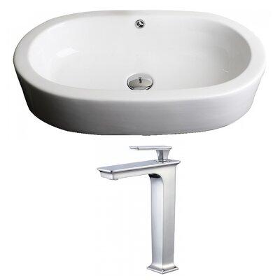 Mold In Bathroom Sink Overflow novatto oval vessel bathroom sink with overflow | wayfair