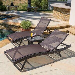 Halulu 3 Piece Chaise Lounge Set