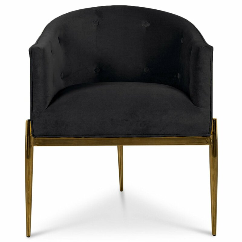 Art Deco Upholstered Dining Chair - ModShop Art Deco Upholstered Dining Chair Wayfair