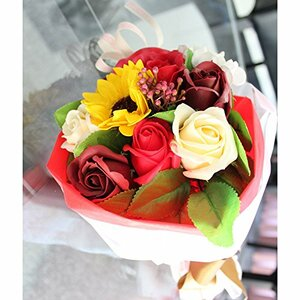 Artificial Small Floral Bouquet Wrap with Paper