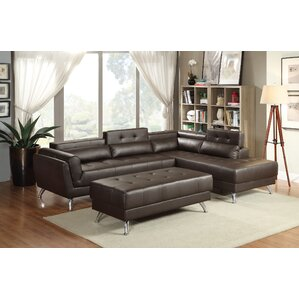 Bobkona Jolie Reclining Sectional by Poundex