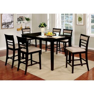 Herefordshire Wooden 7 Piece Counter Height Dining Table Set
