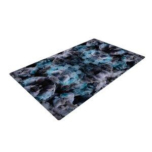 Akwaflorell Abyss Blue/Black Area Rug