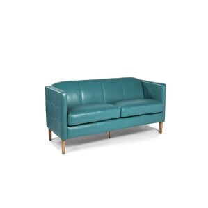 Miami Leather Loveseat by Lazzaro Leather