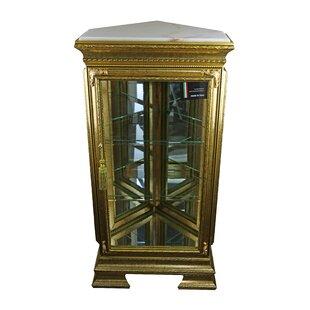 Stlouis Pentagonal Lighted Corner Curio Cabinet