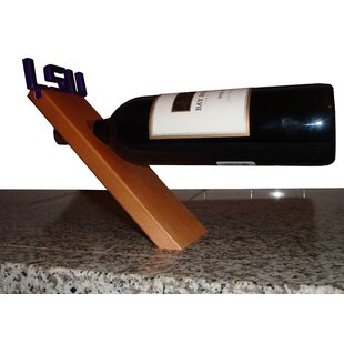 NCAA Floating Stand 1 Bottle Tabletop Wine Rack