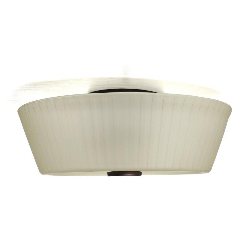Wendell 3 light semi flush mount