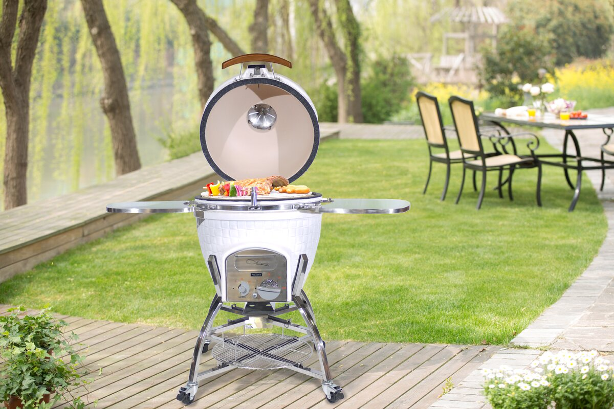 Vision grills 18 signature series gourmet kamado charcoal grill 18 signature series gourmet kamado charcoal grill with smoker dailygadgetfo Image collections