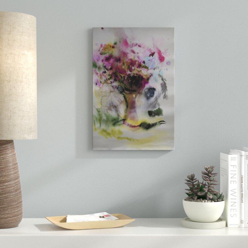 latitude run poem of flowers painting print on wrapped canvas wayfair