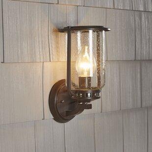 Hampton bay outdoor lighting wayfair bay state 1 light outdoor wall lantern aloadofball Images
