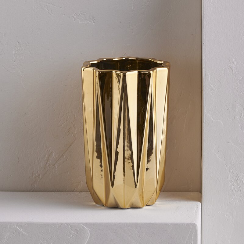 Gold Cylinder Table Vase Reviews Joss Main