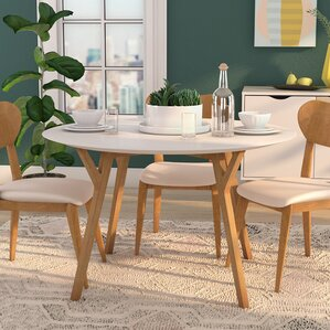 Mid Century Modern Dining Room Table mid-century dining tables you'll love | wayfair