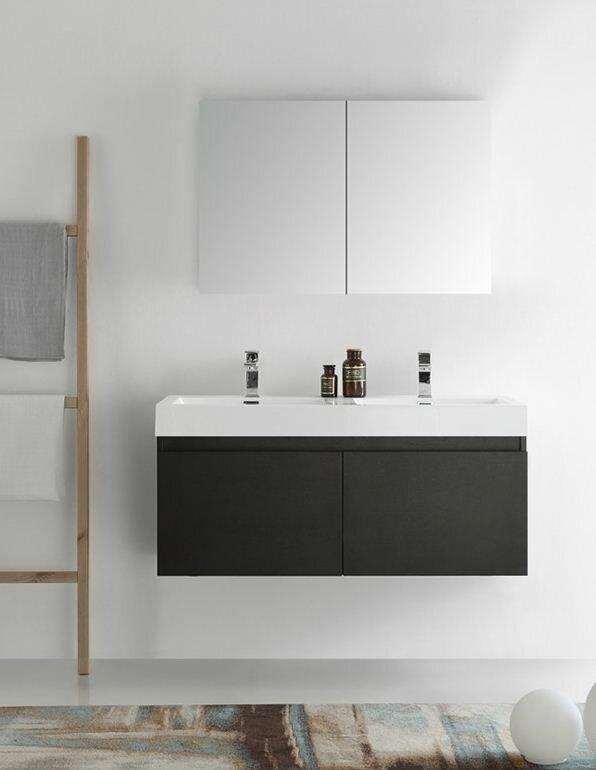 Fresca Senza 48 Mezzo Double Wall Mounted Modern Bathroom Vanity