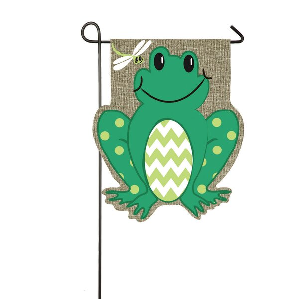 Evergreen Flag Amp Garden Frog Garden Flag Amp Reviews Wayfair