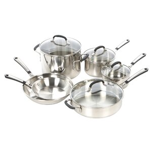 Simply Stainless Steel 10 Piece Cookware Set