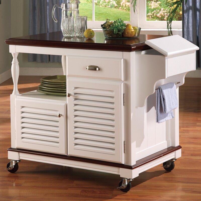 20 Eye Catching Under Stairs Wine Storage Ideas: Wildon Home® Dale Kitchen Cart & Reviews