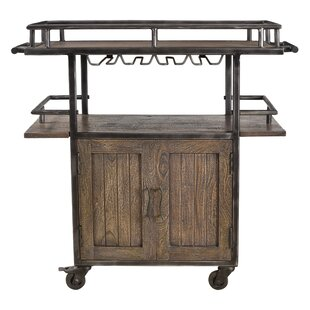 Hessler 2 Door Wheel Wine Bar Cabinet