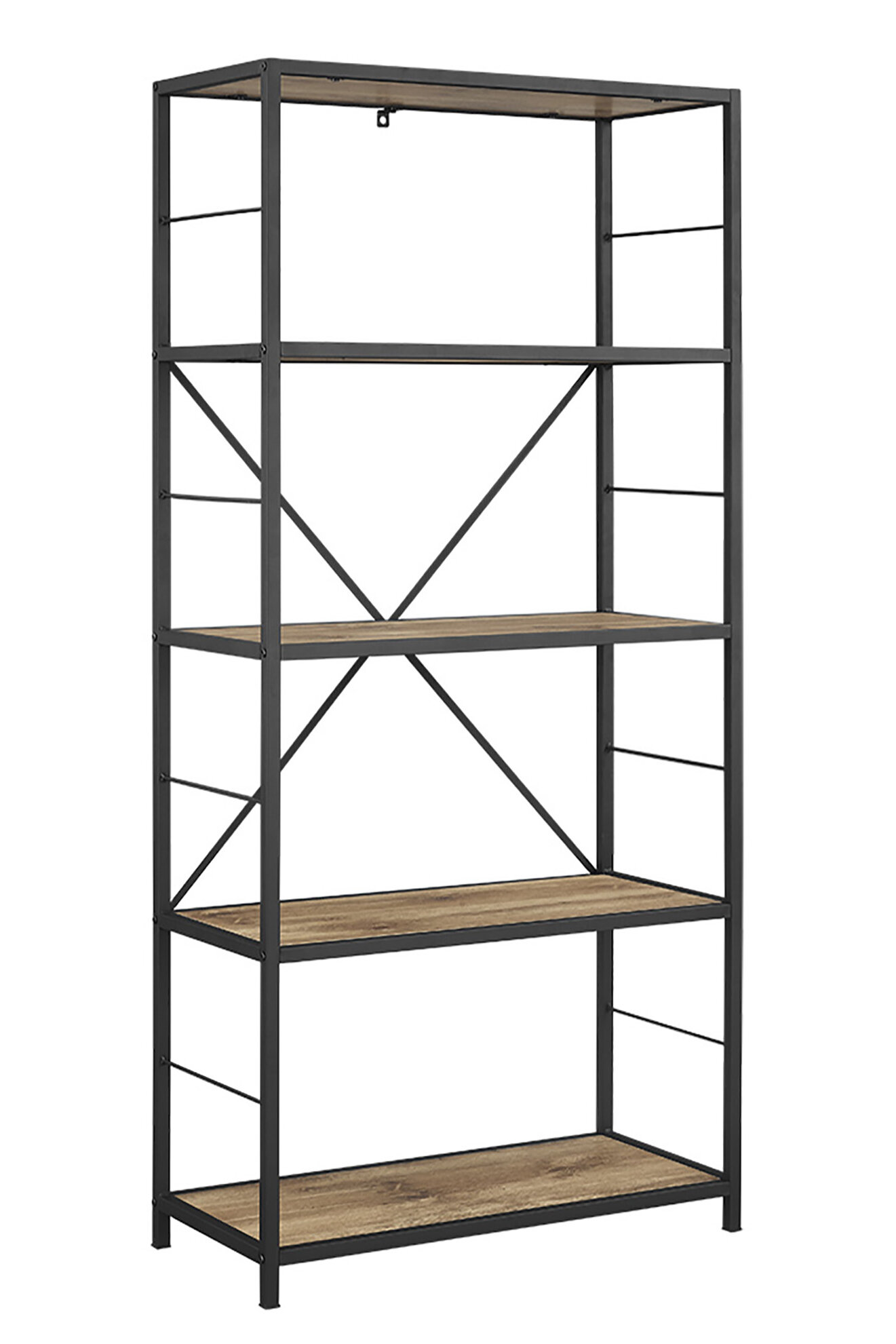 Metal and glass bookcase Black Metal Quickview Wayfair Metal And Glass Shelving Unit Wayfair