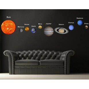 Merveilleux Solar Planets Fabric Wall Decal